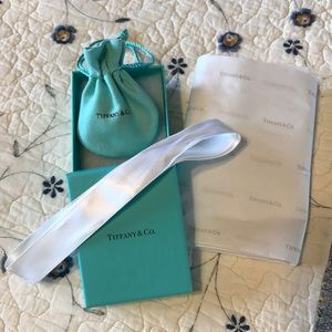 Tiffany box, ring dust bag and tissue paper